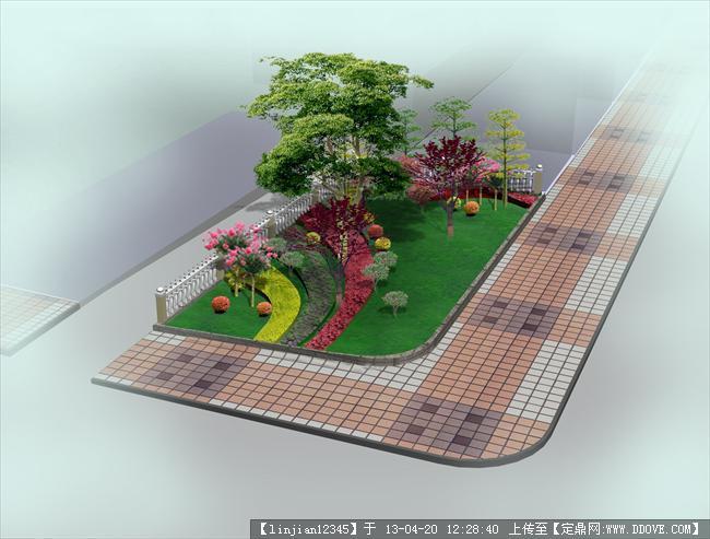 设计图分享 景观设计手绘效果图  游园景观设计效果图的下载地址 宽