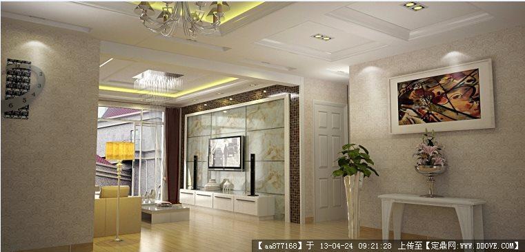 现代欧式su精品室内装饰设计模型图片