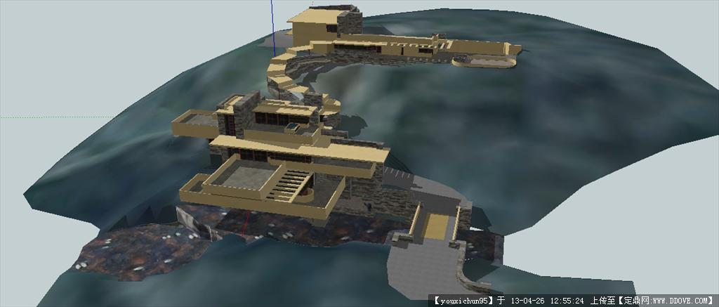 赖特 流水别墅模型()