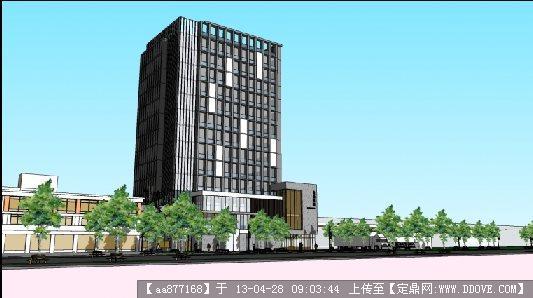 一个纺织厂的办公楼su精品建筑设计模型