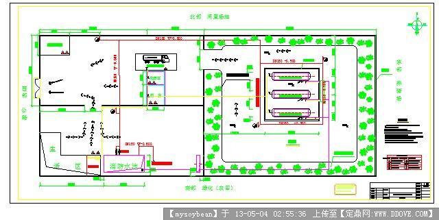 某储油厂消防总平面布置图