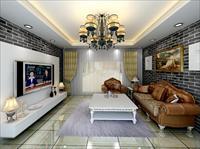 loft风格的客厅效果图