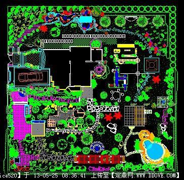 别墅景观cad方案图