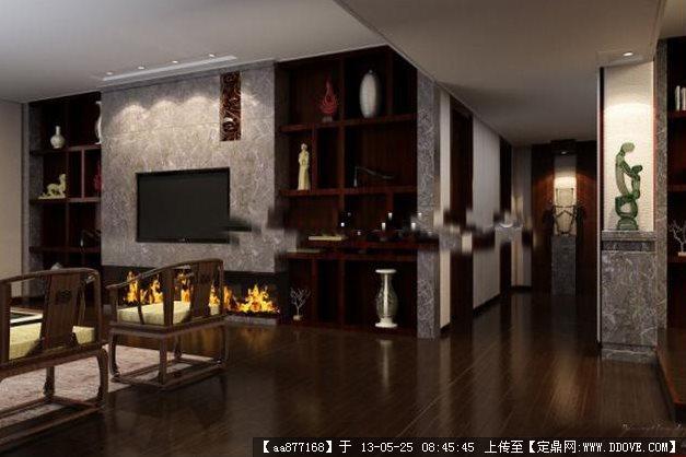 客厅走廊3dmax精美模型(附材质贴图)