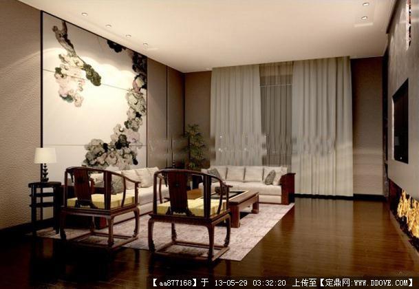 单独客厅3dmax精美模型(附材质贴图)