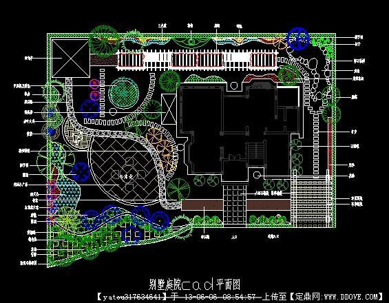 一个别墅庭院的设计图纸