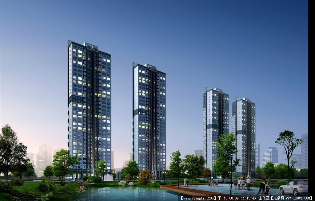 高层住宅建筑效果图