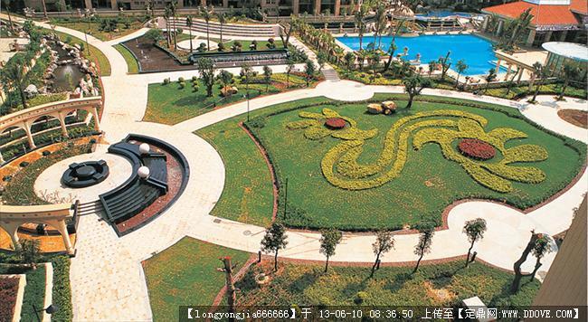 供应园林景观设计施工; 广场 休息区实景图片; 车间休息区效果图-32;