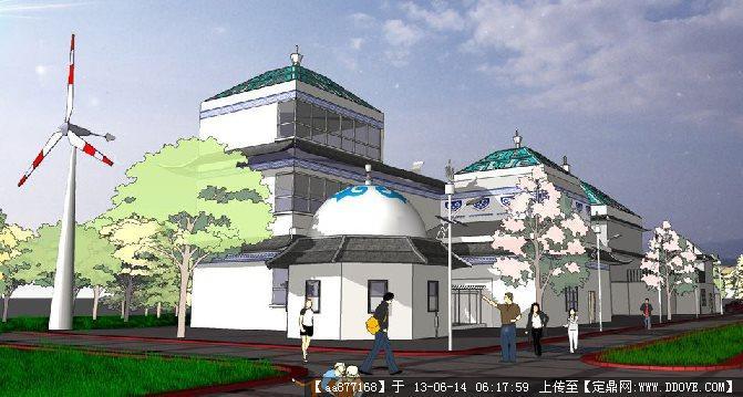 新蒙古風格建筑su精品建筑與景觀設計模型
