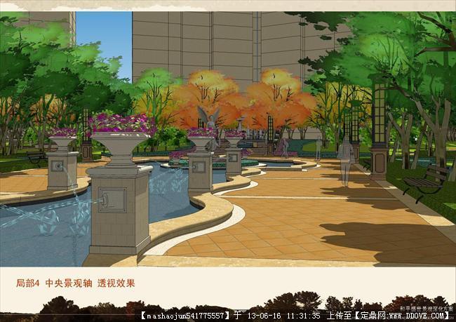 小区绿化景观设计-21局部4透视效果图.jpg图片