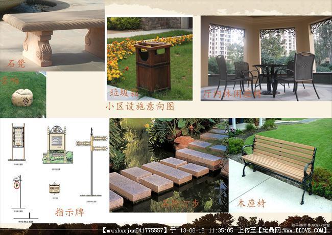 小区绿化景观设计-43小区部分设施意向图.jpg