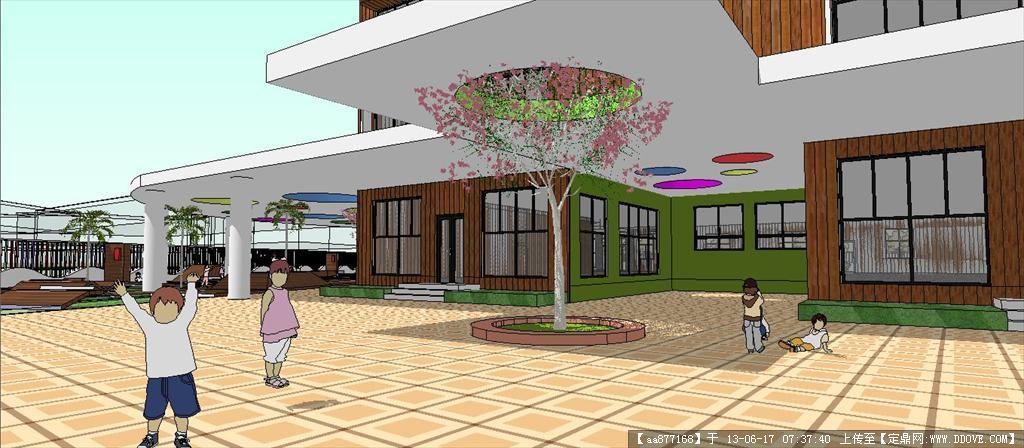 幼儿园方案二su精品建筑与景观设计模型