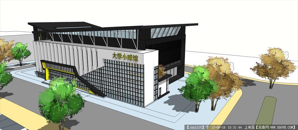 学校su精品建筑与景观设计模型 一栋别墅su精细建筑设计模型 一套家装