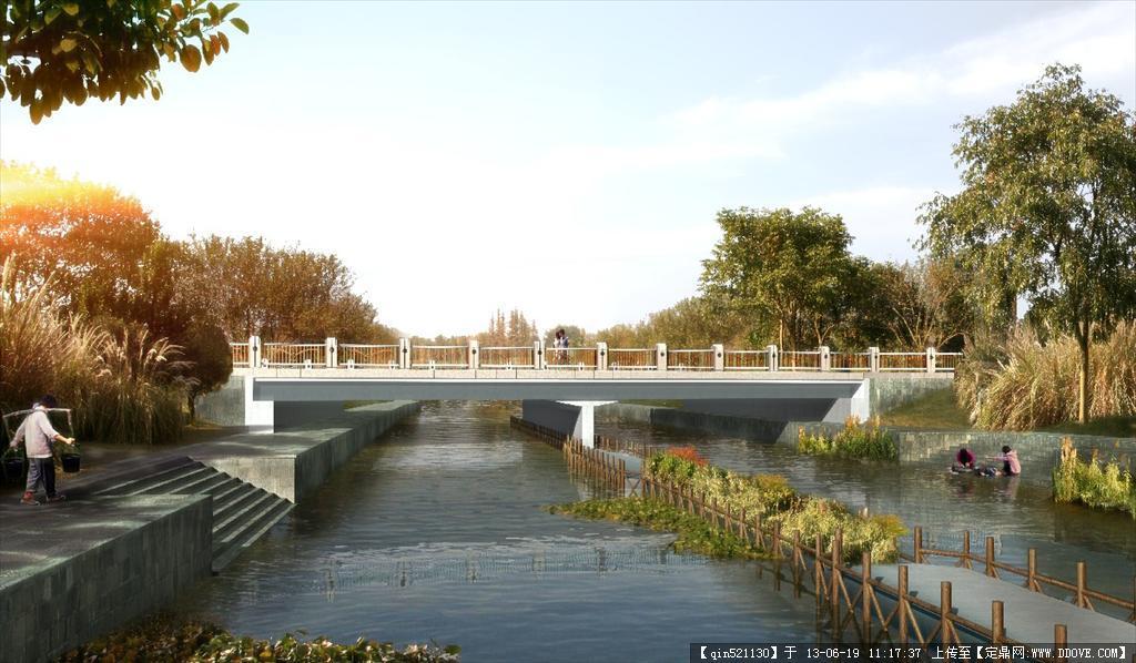 小区景观设计平面高清_高清河岸景观psd效果图