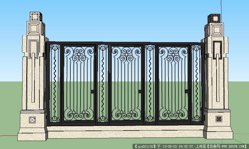 su精品模型 欧式围栏完整模型