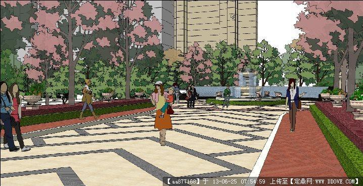 灰暈風格——居住區主入口節點設計方案su精品景觀