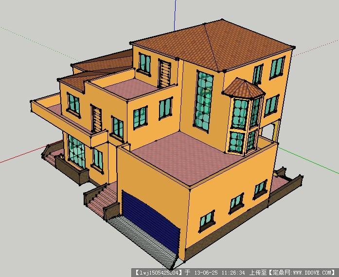 su别墅设计方案图的下载地址,sketchup草图大师模型