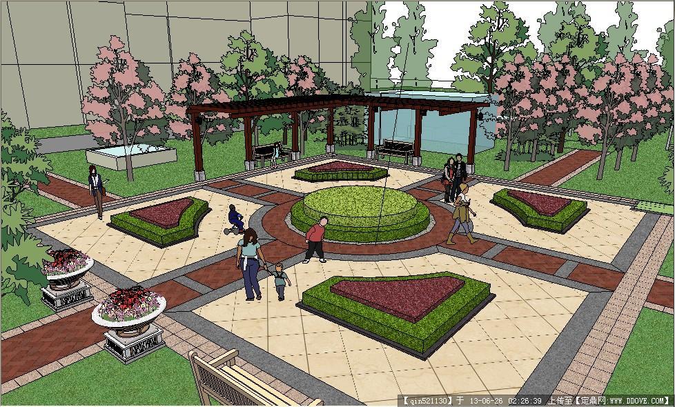 某欧式住宅区中心景观模型
