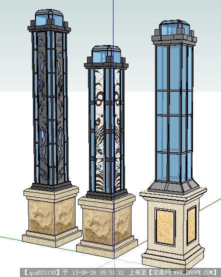 欧式景观灯柱图片