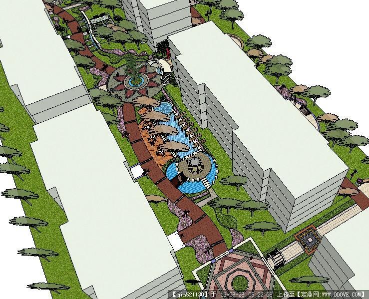 su精品模型 某欧式住宅区整体景观模型