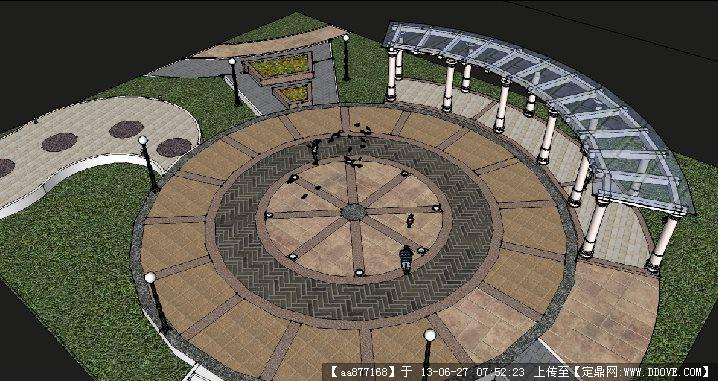 某景观广场su精细设计模型