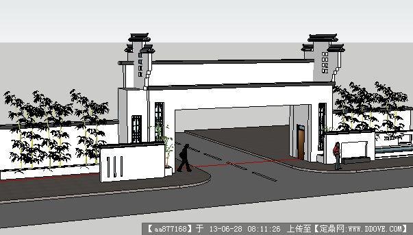 【中式大门su模型 下载】