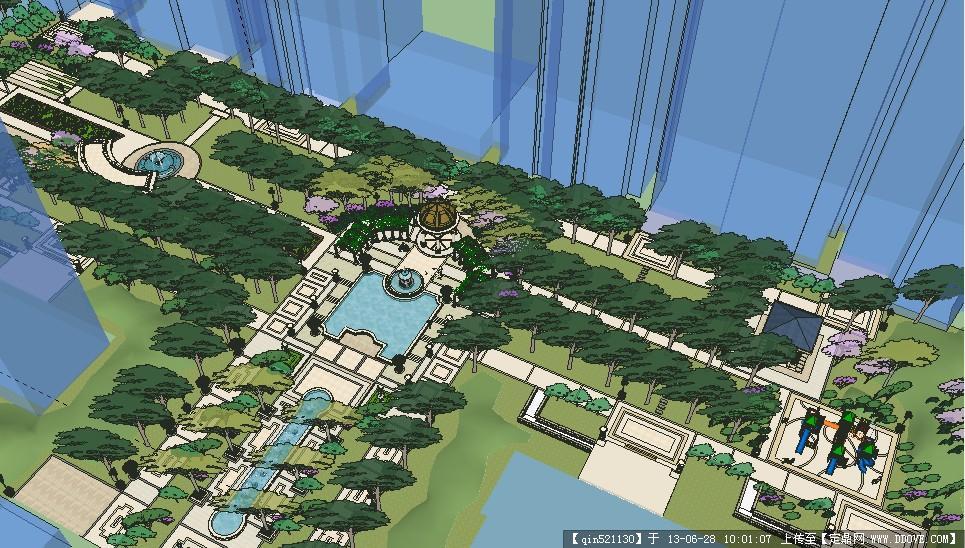 SU模型模型某欧式住宅区精美完整景观精品工程设计重庆市图片