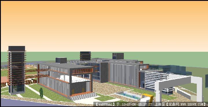中小学su建筑设计精品模型()