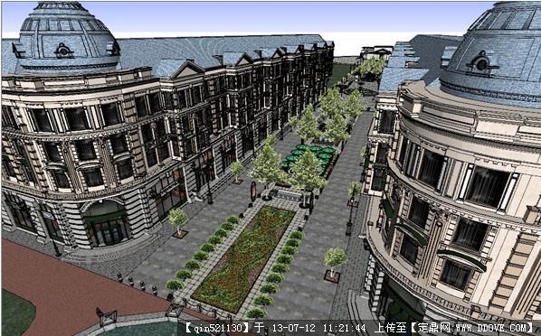 欧式商业步行街建筑及景观设计