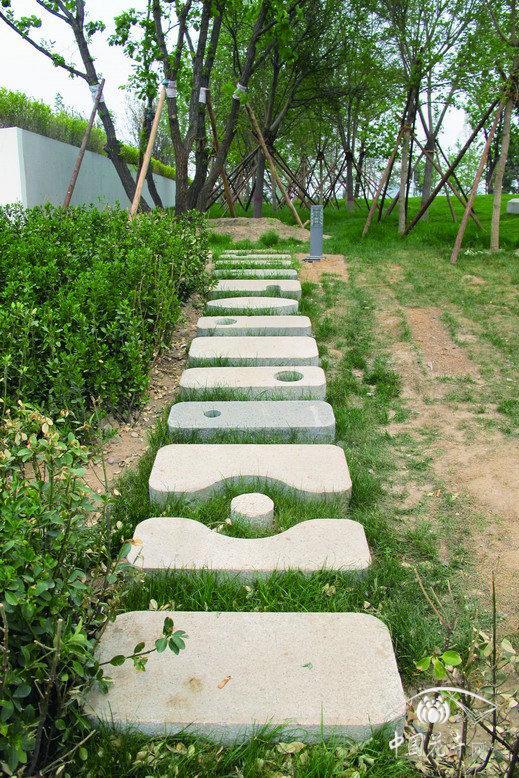 北京园博园内的别致铺装 - 园林资讯 - 中国园林网