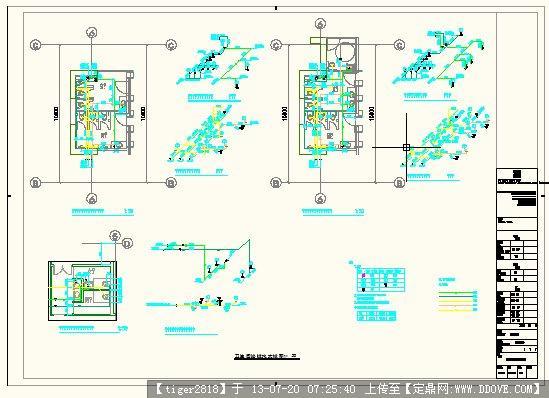 卫生间给排水图纸图改德尔塔拼装大样高达图片