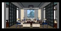 别墅客厅SU(草图大师)室内装饰设计精品模型