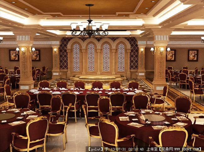 欧式宴会厅效果图