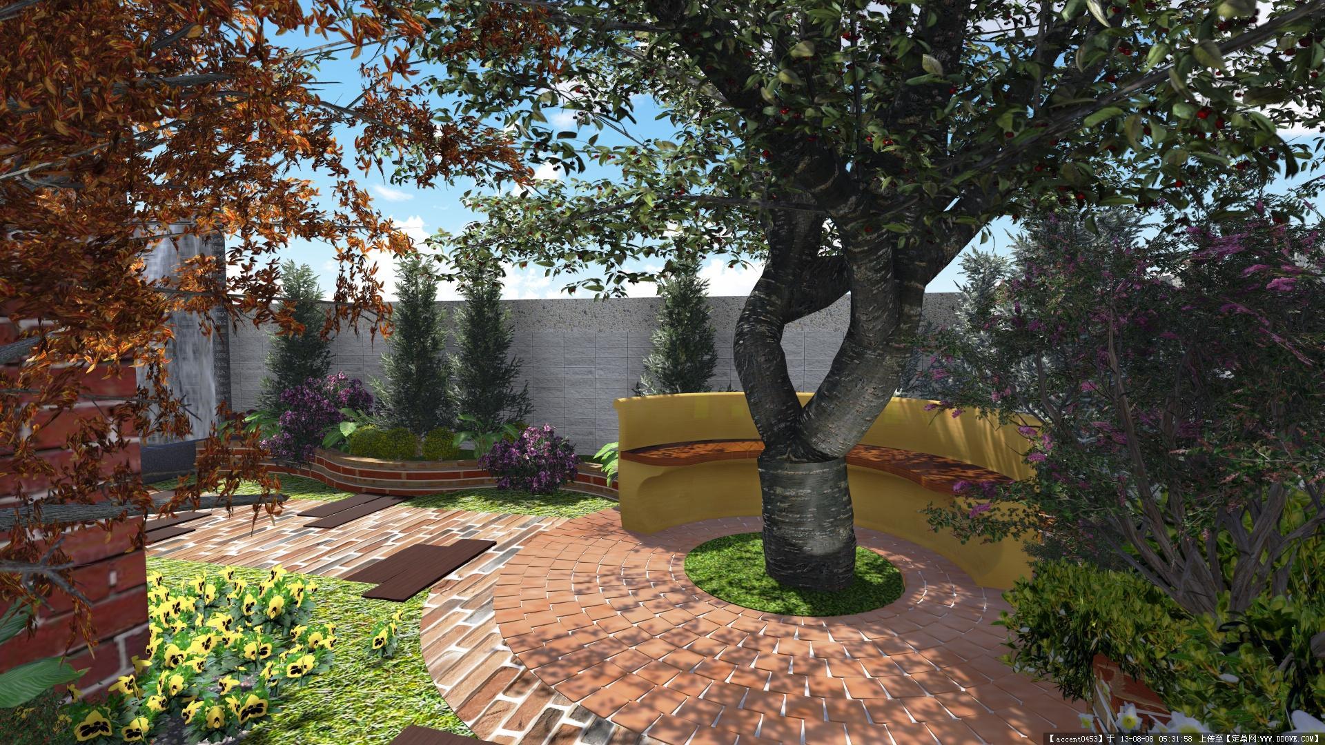 私人住宅庭园景观的图片浏览,园林效果图,花园庭院,_.