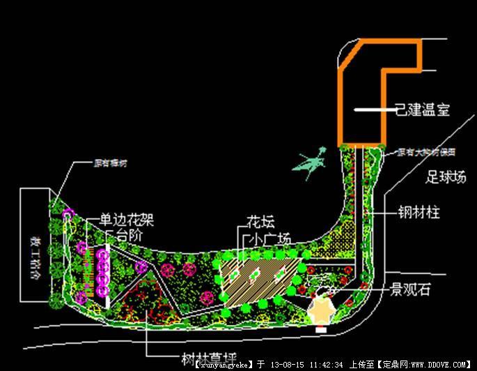 校園綠地設計方案2的下載地址,園林方案設計,校園景觀