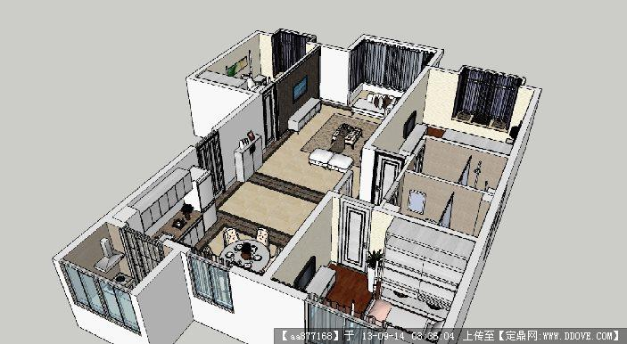 欧式家装su室内装饰设计精品模型的下载地址图片