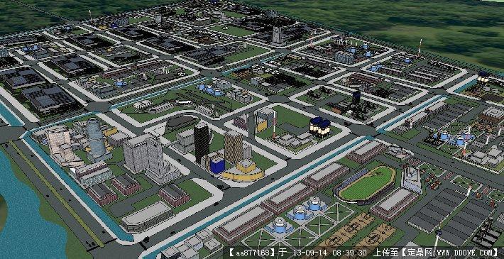工业园su建筑规划设计精品模型图片
