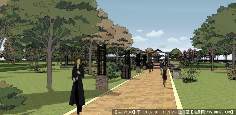 航空港区道路规划概念性方案su景观设计精品模型