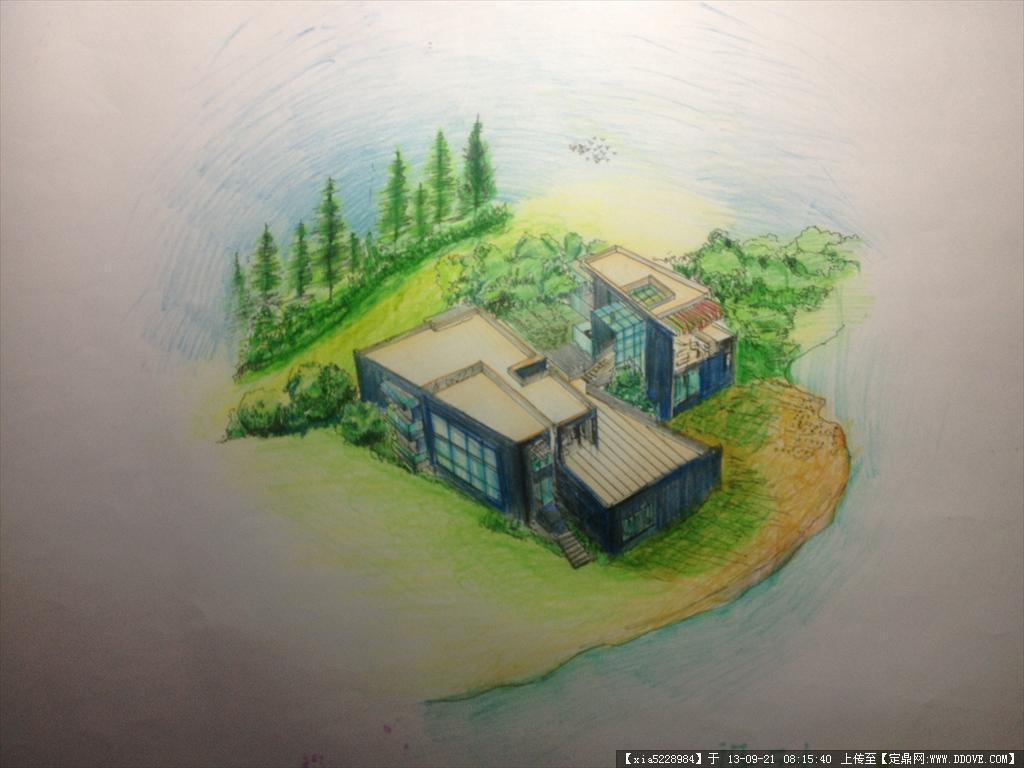 手绘的下载地址,园林效果图,公园景观,园林景观设计施工图纸资