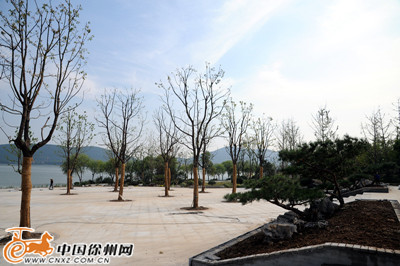 增加树阵广场,亲水平台,雕塑小品,林荫游步道等,不仅拓宽河道宽度