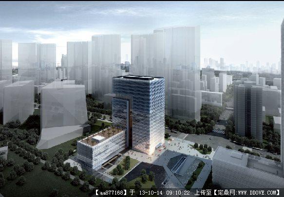 定鼎网 定鼎园林 园林设计文本 科技园区 某公司总部办公楼景观方案