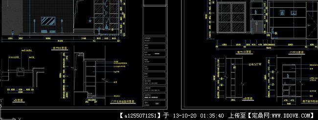 室内设计cad全套图水,电,布置及图纸封面 gbk6nv5