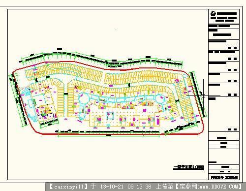 城市万达商业广场的平面图