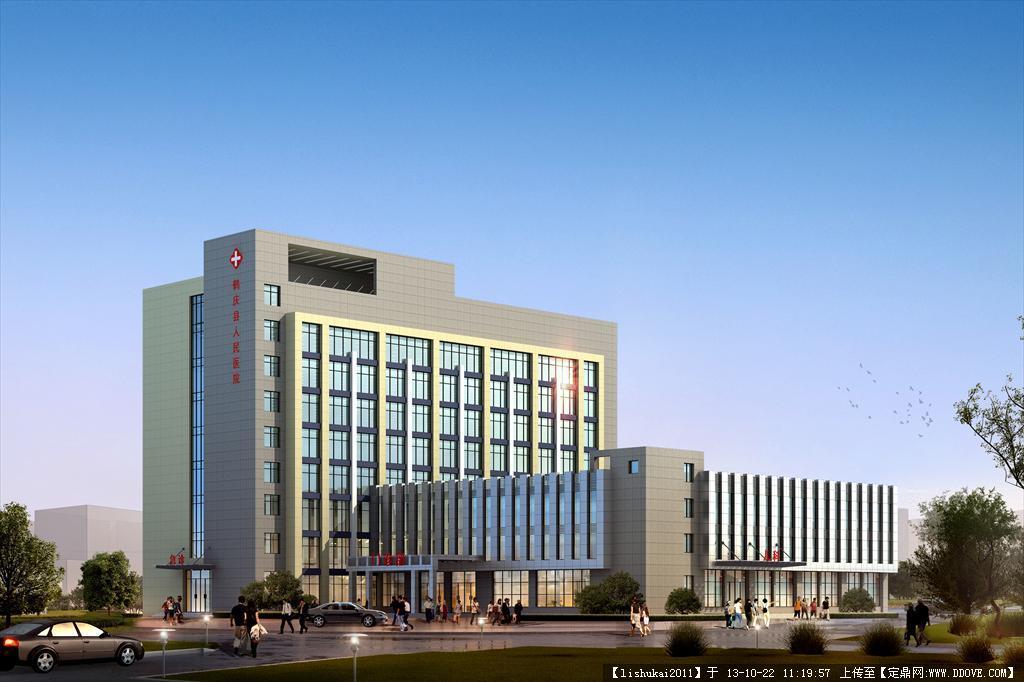 医院建筑效果图高清图片