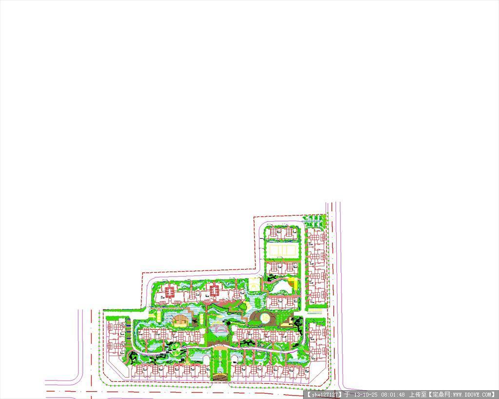 某小区景观绿化设计图
