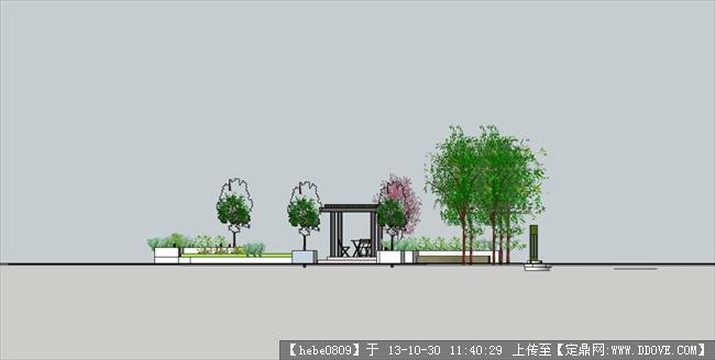 园林项目案例 花园庭院 庭院设计方案图  序号 文件名          格式