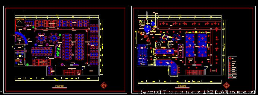 网吧设计装修施工图
