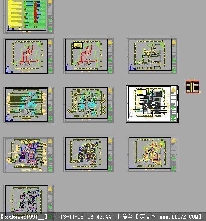 室内设计及cad平面完整施工图
