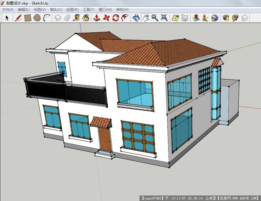 别墅设计su模型的下载地址,sketchup草图大师模型,,_.