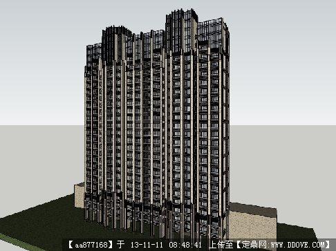 光大t3户型su精品建筑设计模型